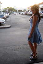 Forever21 hat - Secondhand dress - payless shoes