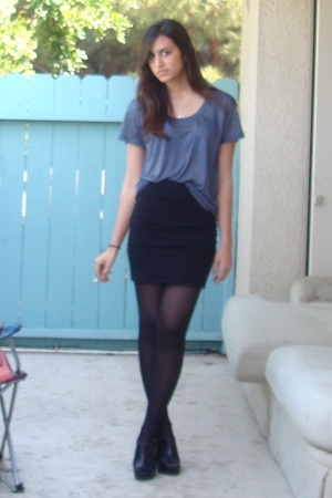 Express t-shirt - H&M skirt - Target shoes