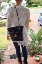 blouse - purse - jeans - shoes