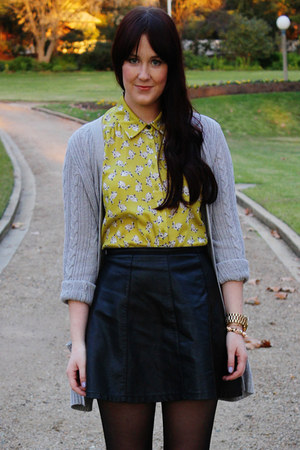 yellow bunny print asos blouse - black Ally Fashion skirt