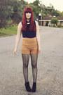 Navy-ally-fashion-shirt-camel-ally-fashion-shorts