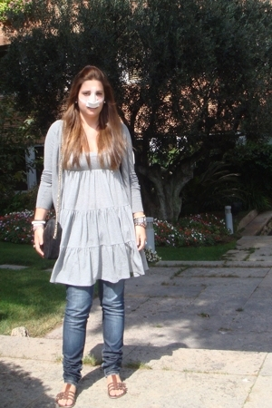 Zara jacket - Victorias Secret dress - Bershka jeans - Stradivarius shoes