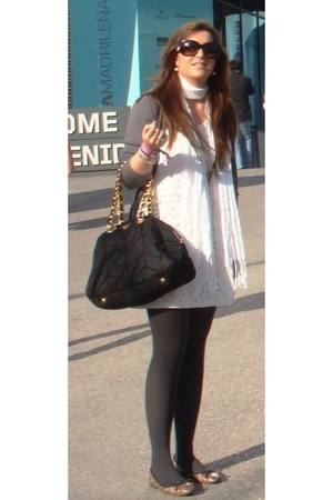 Zara dress - Zara jacket - Gucci shoes - Prada purse - D&G sunglasses