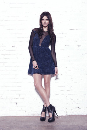 shaggy knit For Love & Lemons dress