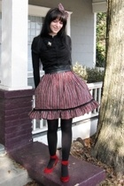 SoHo Lab shoes - H&M blouse - tights - skirt - accessories - belt