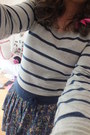 Navy-and-grey-striped-and-floral-dress