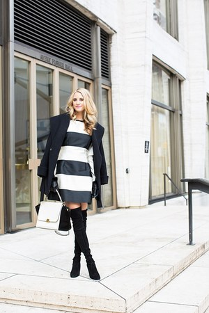 stuart weitzman boots - Stella McCartney dress - Trina Turk coat