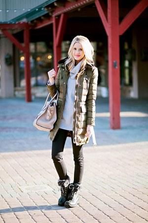 Ugg Australia boots - Burberry coat - J Brand jeans - vince sweater - Celine bag