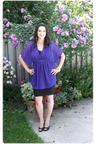 purple Simons blouse - black H&M skirt - black Gossip shoes
