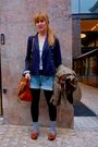 Blue-zara-blazer-brown-cos-shoes-green-vintage-jacket-brown-mulberry-purse