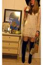White-queens-wardrobe-dress-black-h-m-hat-black-buffalo-boots-beige-vintag