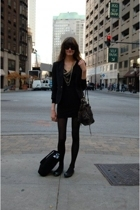 vintage blazer - American Apparel dress - Aldo shoes - H&M necklace - Kooba purs
