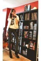 Zara vest - Dead Flowers t-shirt - superfine jeans - Zara belt - Topshop bracele