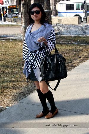 McQ by Alexander McQueen cardigan - Arden B skirt - Betsey Johnson socks - Prada