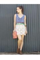 Sportsgirl skirt - Sportsgirl top - vintage belt