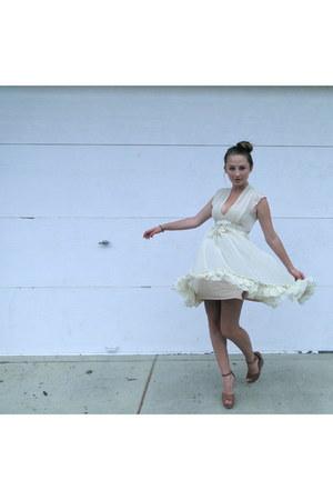 chiffon Twenty One dress - Madden Girl wedges