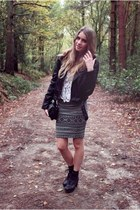 Nasty Gal top - Office shoes - Topshop jacket - River Island skirt