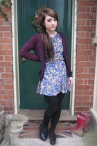 new look dress - H&M cardigan - vivienne westwood necklace