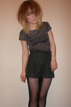 Primark t-shirt - Miss Selfridge tights - Miss Selfridge shorts
