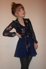 Ribbed-tights-navy-schoolgirl-tk-maxx-skirt-new-look-blouse
