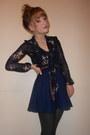 Ribbed-tights-navy-schoolgirl-tk-maxx-skirt-new-look-blouse