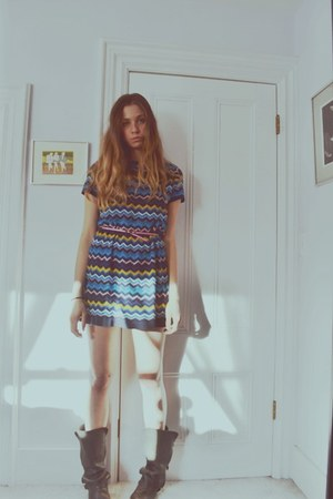 Missoni dress - All Saints boots