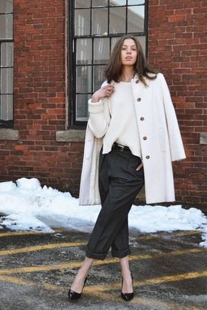 Anne Klein coat - Alexander Wang sweater - vintage pants - vintage belt