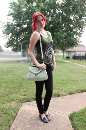 black H&M jeans - aquamarine crossbody Target purse