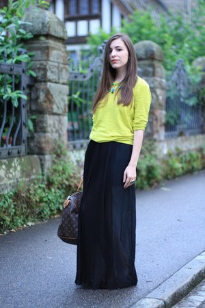 Zara skirt - Louis Vuitton bag - J Crew jumper - kate spade flats - YSL ring