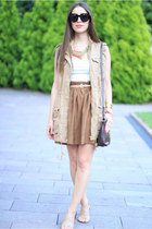 H&M skirt - Stradivarius jacket - DKNY bag - Celine sunglasses