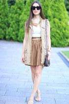 H&M skirt - Stradivarius jacket - DKNY bag - Celine sunglasses
