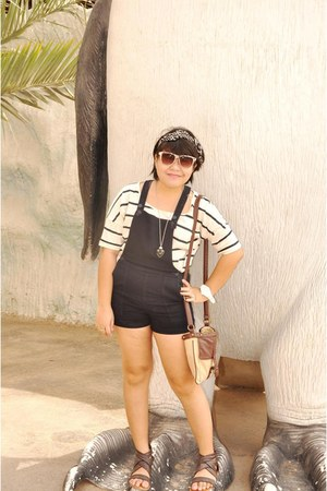 brown printed Newlook sunglasses - white striped Newlook top