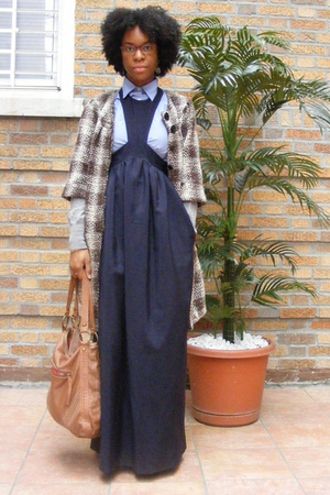 Walter coat - H&amp;M sweater - J Crew shirt - acne dress - lucky purse
