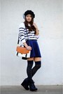 Tawny-satchel-just-fab-bag-navy-forever-21-skirt