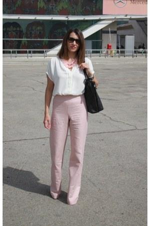 BLANCO necklace - Wardrobe bag - rayban sunglasses - Zara pants - Lefties blouse