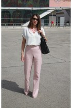 BLANCO necklace - Wardrobe bag - rayban sunglasses - Zara pants - Lefties blouse