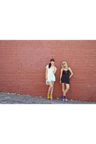 Motel Rocks dress - denim  lace Blank Denim shorts - Seneca Rising blouse - wove