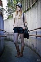 beige SH sweater - bronze NVision boots - silver Hustla hat
