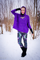 purple H&M leggings - deep purple Ae Woman sweater