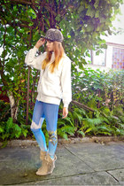 silver TheMode hat - light blue LuvYaClth leggings