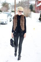 Zara boots - Zara jeans - Zara sweater - coach bag - Mango vest