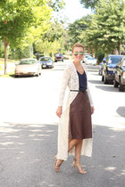 H&M skirt - H&M dress - Shop Elysian cardigan - Michael Kors heels