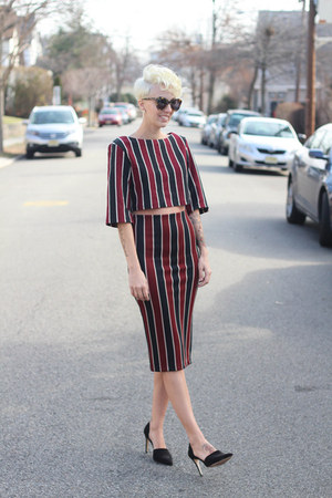 H&M top - H&M skirt - Zara heels