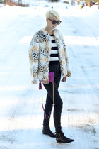Betsey Johnson jacket - Diane Von Furstenberg bag - Mango top - Zara pants