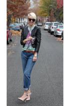 H&M jacket - Loft jeans - asos heels