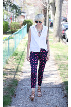 Zara top - H&M sunglasses - Zara heels - H&M pants