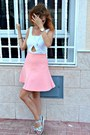 White-zara-top-pink-zara-skirt