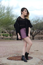 thrifted boots - Forever 21 coat - Topshop skirt
