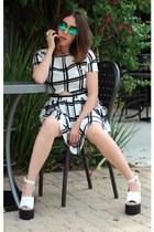 Missguided dress - Moddeals sunglasses - Missguided heels