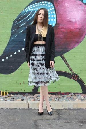 Zara blazer - Topshop skirt